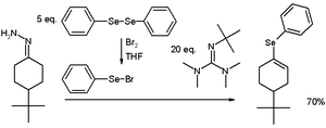 Hydrazone iodination - Vinyl Selenide Synthesis