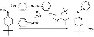 Hydrazone iodination - Vinyl Selenide Synthesis