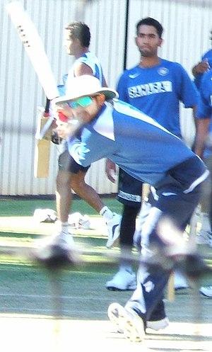 Virender Sehwag batting at Adelaide Oval