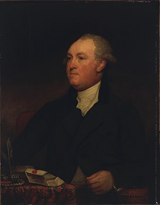 Thomas Townshend, 1st Viscount Sydney - Portrait attributed to the American painter Gilbert Stuart, c. 1785