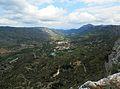 Vista de la Vall de Gallinera des de la pujada a la Penya Foradà.JPG