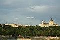 Vista del Palacio Real y la Catedral de la Almudena desde el río. Septiembre 2018. Madrid.jpg