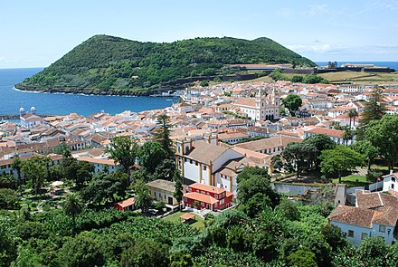 Angra do Heroismo, the oldest continuously settled town in the archipelago of the Azores and UNESCO World Heritage Site Vista sobre Angra do Heroismo.jpg