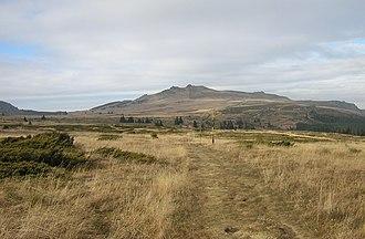 Vitosha - The Plateau with Torfeno Branishte. Ushite and Kamen Del Peaks seen in the background.