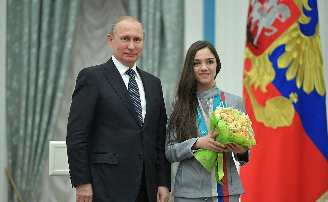 Vladimir Putin and Evgenia Medvedeva (2018-02-28).jpg