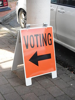 Voting this way, Petone NZ, 2014
