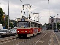 Vozovna Vokovice, zastávka, Tatra T3SUCS.jpg