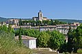 Vue du village de Flayosc depuis la montée de la Grande Vigne.JPG
