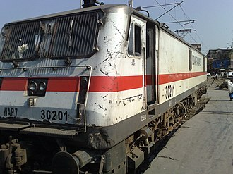 Paschim Express - Image: WAP 7 engine of the 12926 Paschim Express at Bandra Terminus
