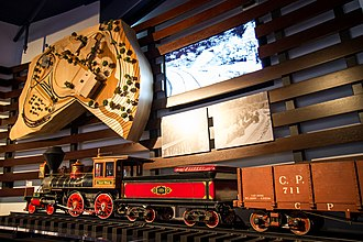 Walt Disney Family Museum - The Lilly Belle  locomotive and several train cars from Walt Disney's Carolwood Pacific Railroad are at the museum.