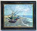 WLANL - Techdiva 1.0 - Vissersboten op het strand van Les Saintes-Maries-de-la-Mer, Vincent van Gogh (1888).jpg