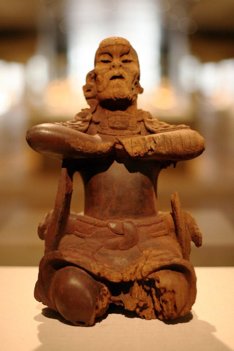 WLA metmuseum Maya Wood Mirror Bearer 6th century