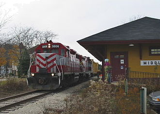 Wisconsin and Southern Railroad - Image: WSOR passes Middleton Depot