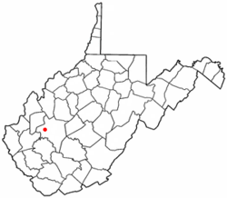Location of South Charleston in West Virginia.