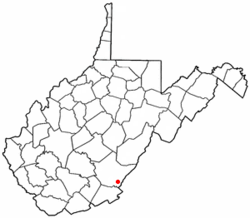 Location of White Sulphur Springs, West Virginia