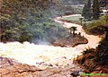 Waikinos Owharoa Falls in full flood 1981.jpg