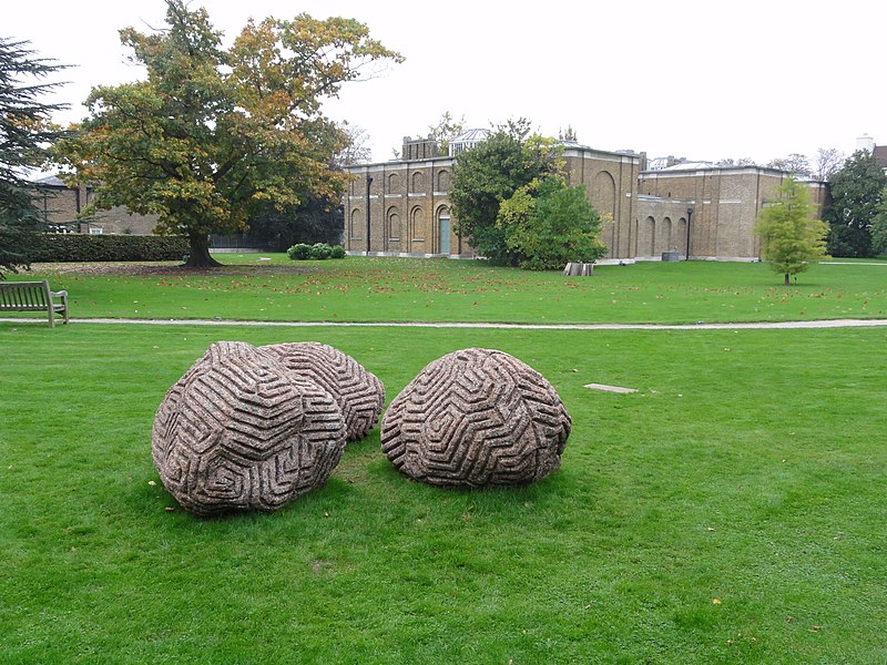 File:Walking the dog in front of Dulwich Picture Gallery.jpg