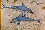 Wall painting of dolphins from Knossos (Queen´s Megaron) - Heraklion AM.jpg