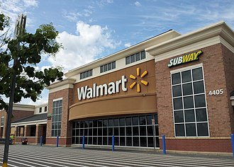 Big-box store - Walmart, a general merchandise big-box store