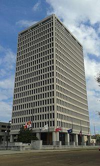 Walter Sillers Building, SW corner, Jackson, MS.jpg