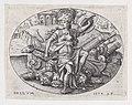 War- Bellona sits on a trophy of arms Met DP888038.jpg