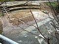 Wassertretstelle am Dorfbach in Merzhausen nach Hochwasser mit Sand und Kies gefüllt 3.jpg