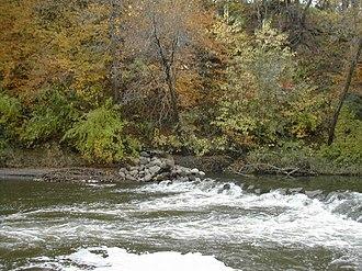 Madelia, Minnesota - The Watonwan river flows through Watona park