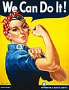 "Poster ""We Can Do It!"" oleh J. Howard Miller pada tahun 1943"