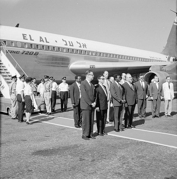 File:Welkomstceremonie bij aankomst van de Oegandese premier Milton Obote (3e van lin, Bestanddeelnr 255-3128.jpg