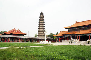 Wenshang County - A pagoda in Wenshang