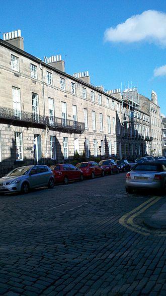 West End, Edinburgh - Typical West End street