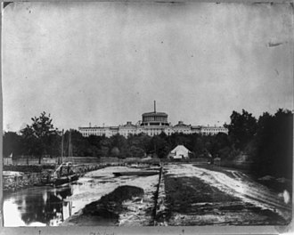 Washington City Canal - The Canal in front of the Capitol Building in construction (1860)