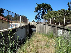 Fort Mason Tunnel - The west portal of the Fort Mason Tunnel in disuse