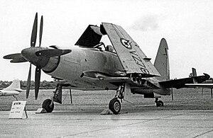 Westland Wyvern - Wyvern S.4 strike aircraft of 813 Naval Air Squadron at RNAS Stretton in 1955