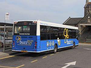 MCV Evolution - Image: Weston super Mare station Bakers Dolphin 94 (AJ58PZC) rear