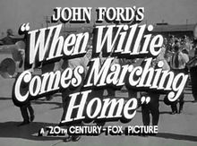 Description de l'image When Willie Comes Marching Home title from trailer.jpg.