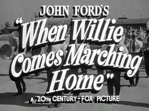 When Willie Comes Marching Home - Title Card