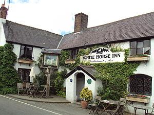 Cilcain - Image: White Horse Inn, Cilcain DSC06082