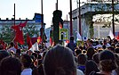 """Syrian Refugees Welcome"" rally in Vienna, 31 August 2015"