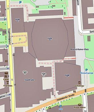 Wiener Stadthalle - Map of the Wiener Stadthalle