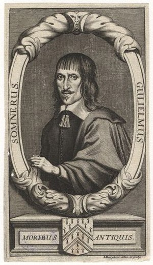William Somner - William Somner, 1693 engraving by Michael Burghers.