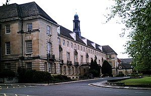 Trowbridge - Main Wiltshire Council building in Bythsea Road