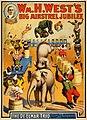 Wm. H. West's Big Minstrel Jubilee, The De Elmar Trio, vaudeville poster, 1900.jpg