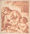 Woman Soaking a Cloth in a Bowl Held by a Girl (copy from Guercino's Saint Sebastian Tended by Irene) MET DP810225.jpg