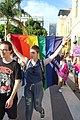 Woman holding pride flag in protest.jpg