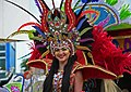 Woman in parade costume 2020 Bonaire Carnival (Atsme).jpg