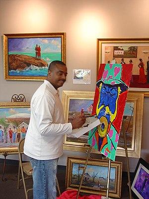 Ted Ellis (artist) - Ted Ellis creating art.