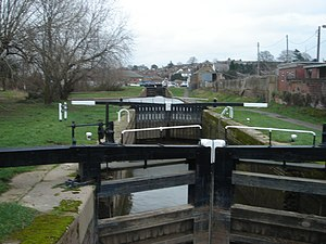 Worcester and Birmingham Canal - Worcester and Birmingham Canal locks. Feb. 2007