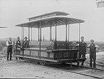 Workmen with tram dummy van (5570728520).jpg