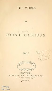 Works of John C. Calhoun, v1.djvu